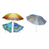 Пляжный зонт с наклоном 200см, солнцезащитный зонт с креплением спиц Ромашка и напынием, фото 1