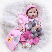 Кукла реборн 57 см полностью виниловая девочка Мирослава