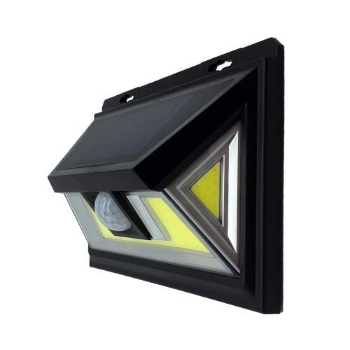 LED светильник на солнечной батарее 10W с датчиком движения