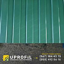 Профнастил для забора С8 Зеленый RAL 6005 бюджетный вариант, купить профнастил, фото 3