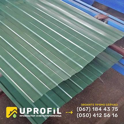 Профнастил для забора С8 Зеленый RAL 6005 бюджетный вариант, купить профнастил, фото 2