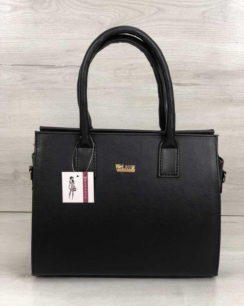 Каркасная женская сумка WeLassie Селин черного цвета (31215)