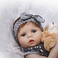 Кукла реборн 57 см полностью виниловая девочка Алла