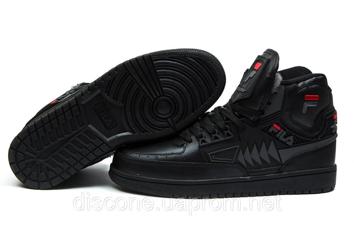 Зимние мужские ботинки 30351 ► FILA Turismo, черные ✅SALE! % ► [ нет в наличии ]