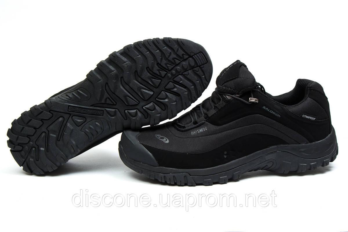 Зимние кроссовки ► Salomon Climaproof,  черные (Код: 30361) ►(нет на складе) П Р О Д А Н О!