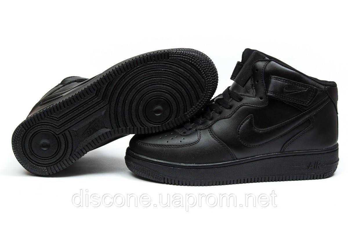 Зимние кроссовки ► Nike Air Force I,  черные (Код: 30381) ►(нет на складе) П Р О Д А Н О!