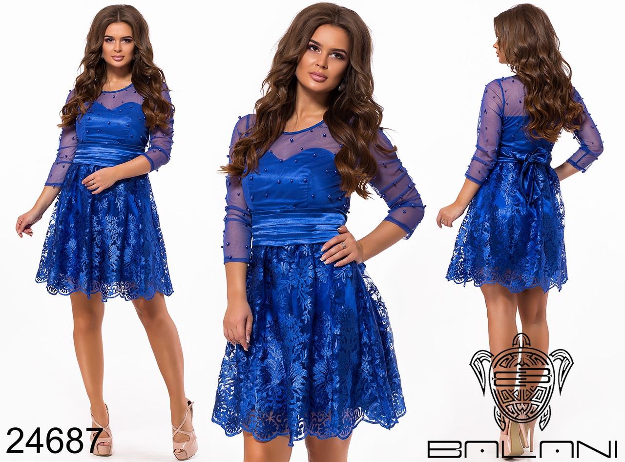 89621ee58bf Шикарное праздничное кружевное платье Balani размер 42-46 -  Интернет-магазин