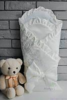 Конверт-одеяло для новорожденного, молочный, демисезонный
