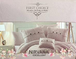 Постельное белье + вязаное покрывало  First Choice Nirvana Excellent Ekru, фото 3