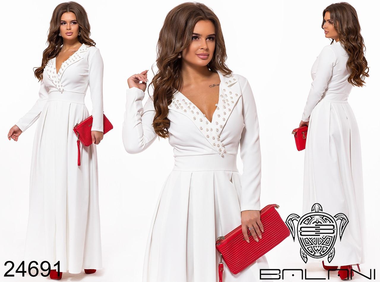 9905f0f691c Длинное вечернее элегантное пышное платье в пол Balani размер 42-46 ...