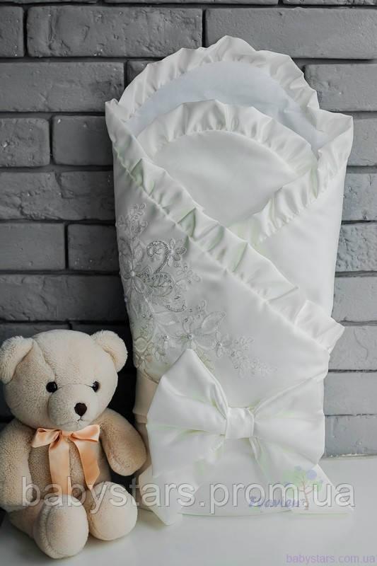 Конверт-одеяло для новорожденного, молочный, зимний