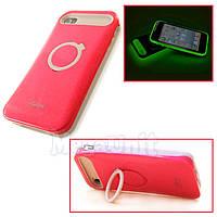 I-Glow Флуоресцентный чехол для Apple iPhone 4/4S красный, фото 1