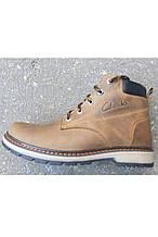 Ботинки подростковые зимние №2, р.36-40, кожа, коричневый