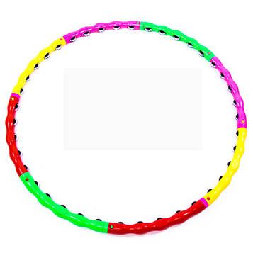 Обруч массажный разборный Hula Hoop (диаметр 105 см, 8 секций)
