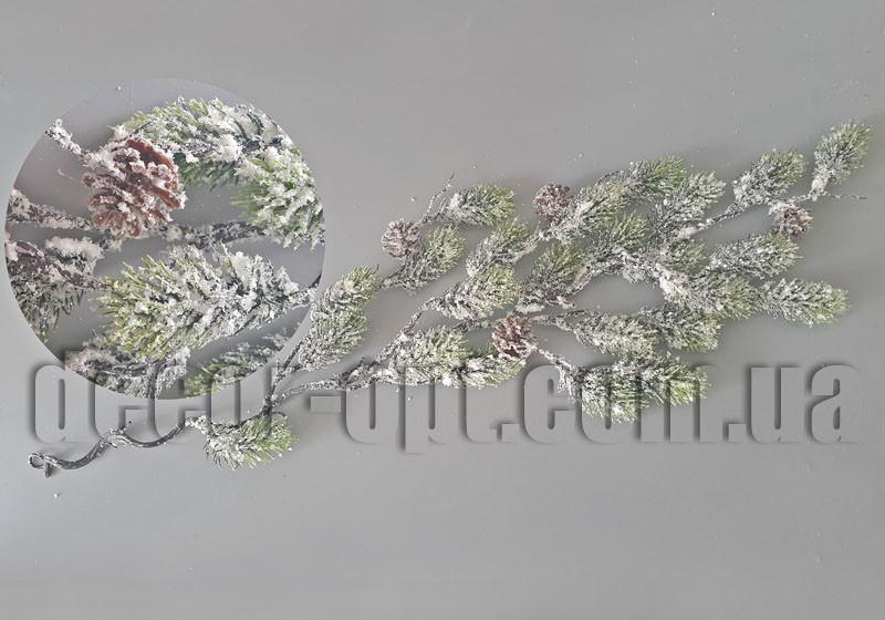 Гирлянда  хвои с шишками 70 см SF243