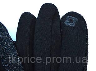 Жіночі трикотажні рукавички з сенсорними пальчиками на флісовой підкладці, фото 2