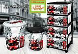 Комод пластиковый Еlif (Элиф), с рисунком серия LONDON (Лондон), фото 3