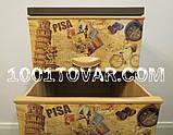 Комод пластиковый Еlif (Элиф), с рисунком серия PISA (Пиза), фото 2