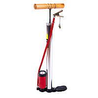 Насос ножной с манометром для велосипеда
