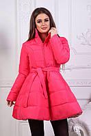 Стильное яркое пальто-колокольчик в расцветках