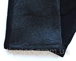 Женские трикотажные перчатки с сенсорными пальчиками на флисовой подкладке, фото 3