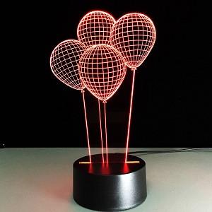 3Д Светильник , 3D ночник шарики с пультом управления