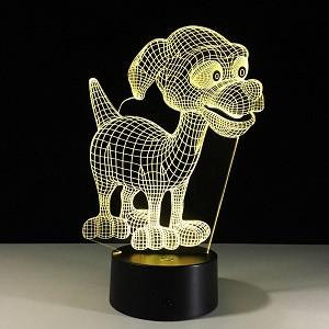 3D Светильник Прекрасный щенок