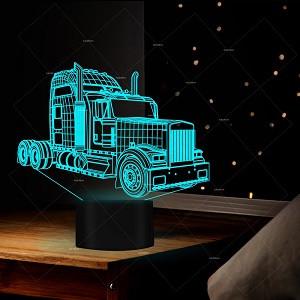 3D Ночник , 3D светильник Грузовик с пультом управления