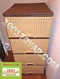 Комод пластиковый Еlif (Элиф), с разным рисунком, фото 6
