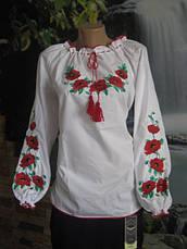 Сорочка вышиванка  с маками есть большие размеры, фото 3