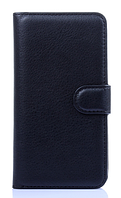Кожаный чехол книжка для LG G2 Optimus D801 D802 LS980 черный
