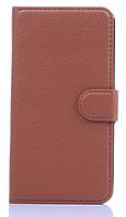 Кожаный чехол книжка для LG G2 Optimus D801 D802 LS980 коричневый
