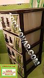 """Комод пластиковый Еlif, с рисунком, серия """"BAMBOO"""" (бамбук), фото 4"""