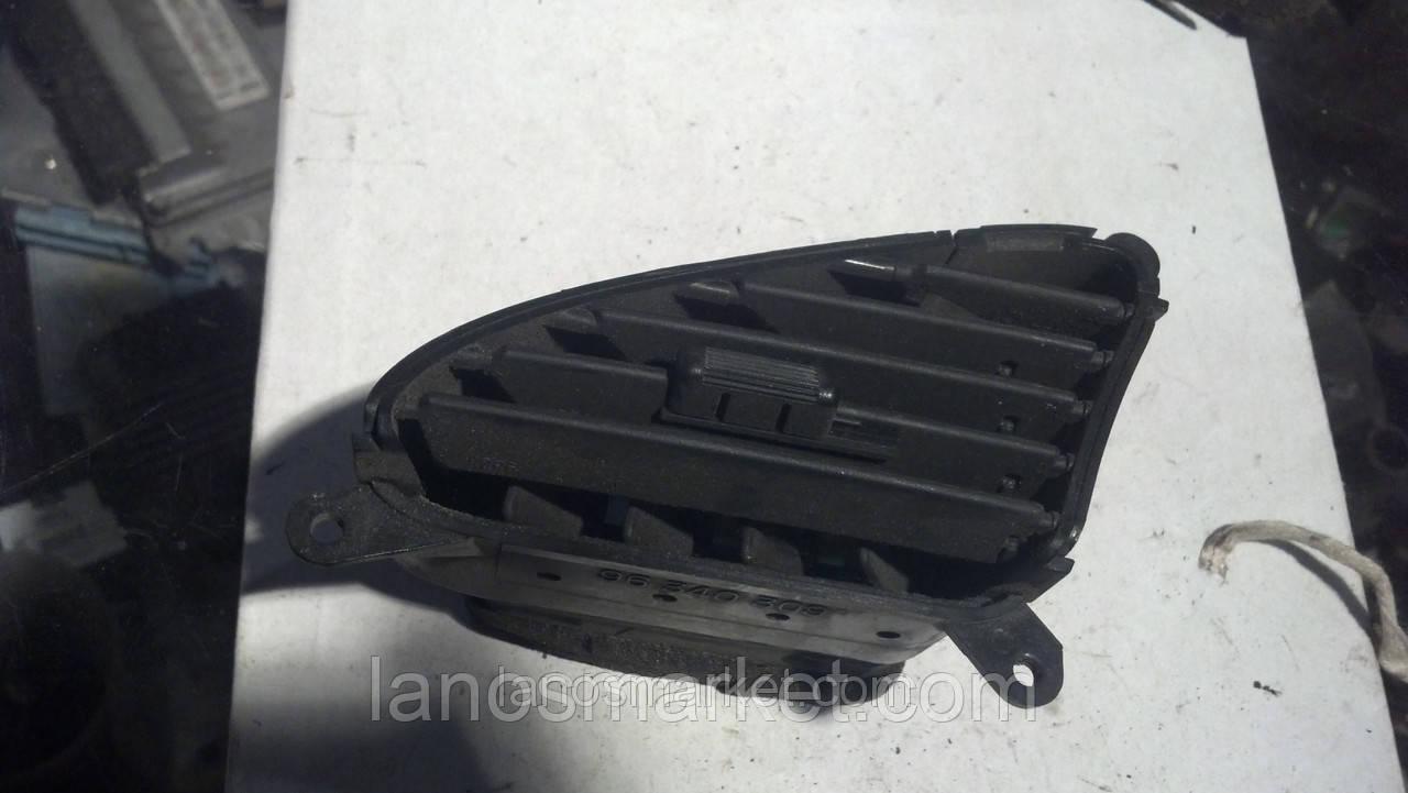 Дефлектор воздуха на торпеде Ланос левый б/у