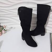Чоботи жіночі чорні зимові