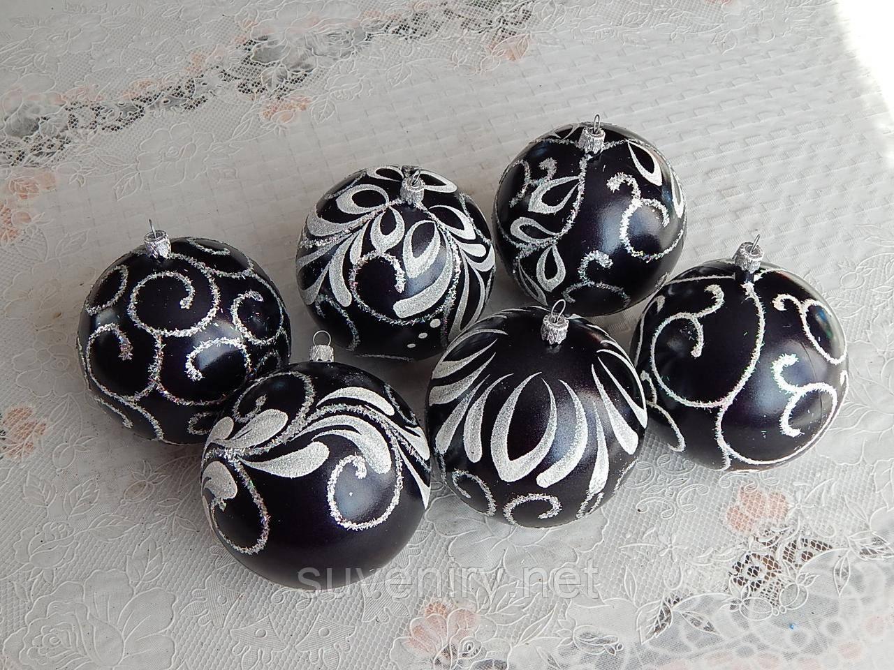 Красивые новогодние шары 10см ручная работа