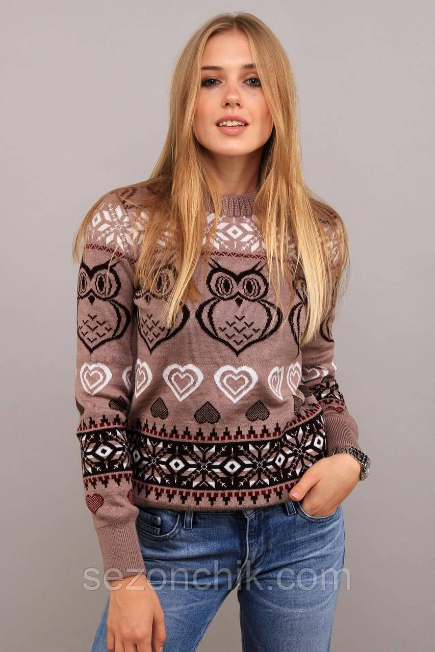 Женский свитер модный молодёжный