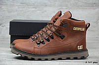 Мужские кожаные зимние ботинки Caterpillar  (Реплика), фото 1