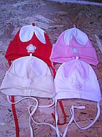 Трикотажная весенняя шапочка для девочки, фото 1