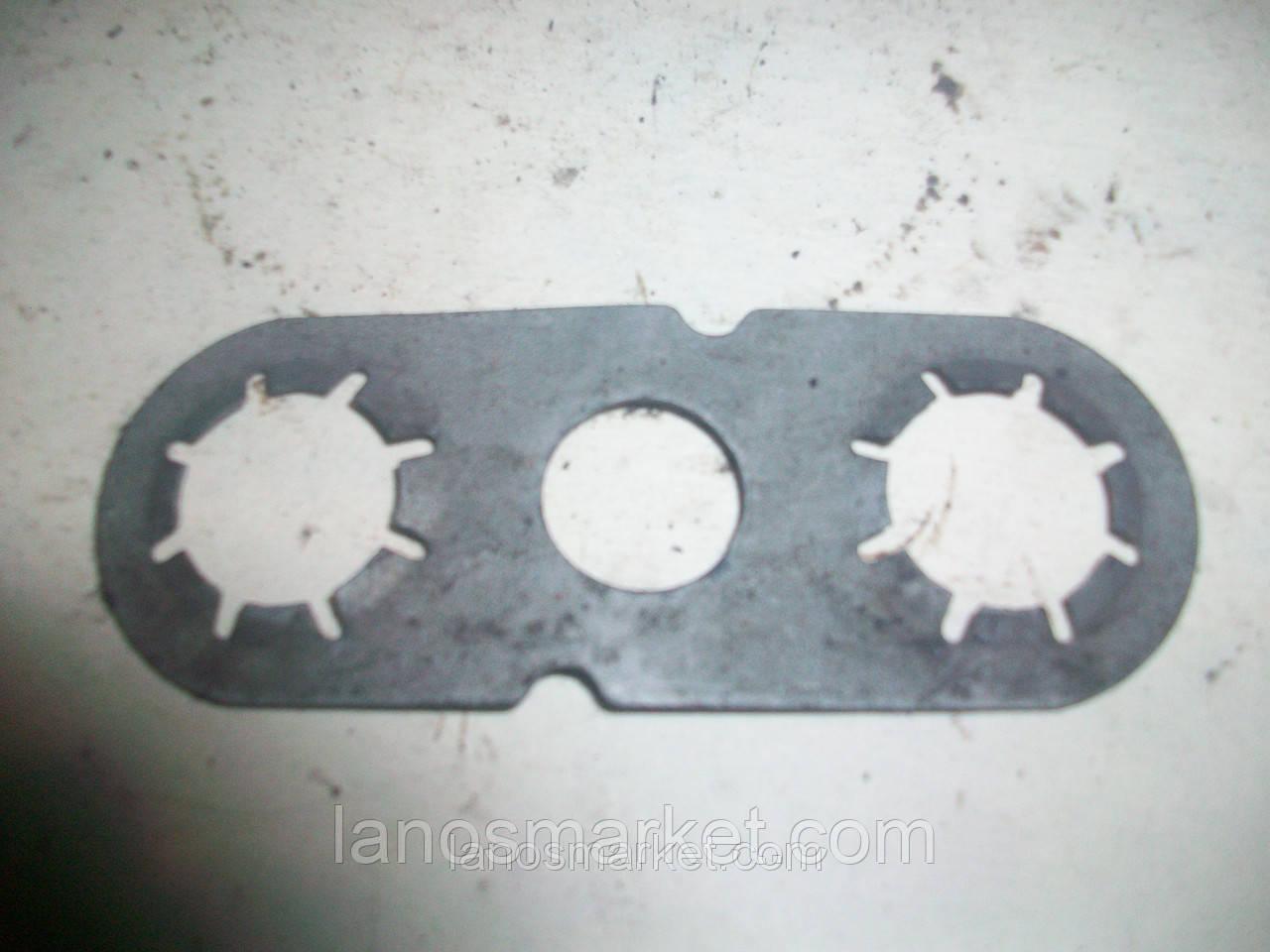 Пластина стопорная на болты рулевой рейки Ланос (GM) б/у