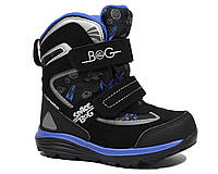 Термоботинки B&G-Termo арт.HL197-910, черно-синий, 32, 21.0