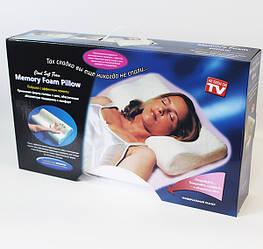 Ортопедическая подушка Memory Foam Pillow с памятью