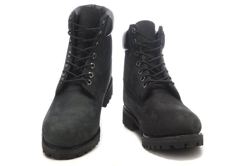 ÐÑжÑкие боÑинки Timberland 6-inch Black (ТимбеÑленд) Ñ Ð½Ð°ÑÑÑалÑнÑм меÑом, ÑоÑо 2