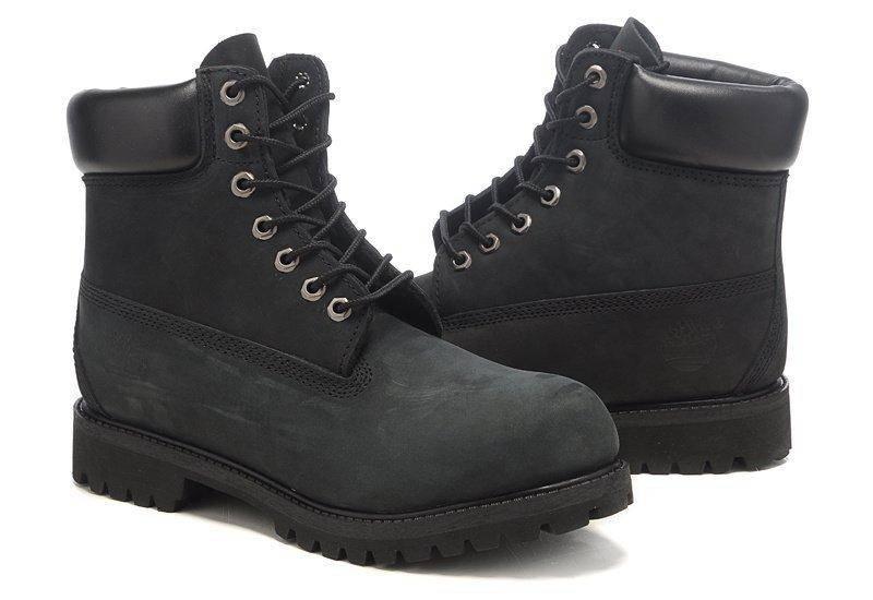 ÐÑжÑкие боÑинки Timberland 6-inch Black (ТимбеÑленд) Ñ Ð½Ð°ÑÑÑалÑнÑм меÑом, ÑоÑо 3