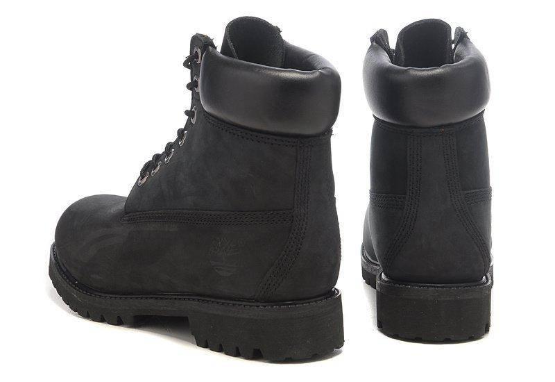 ÐÑжÑкие боÑинки Timberland 6-inch Black (ТимбеÑленд) Ñ Ð½Ð°ÑÑÑалÑнÑм меÑом, ÑоÑо 4