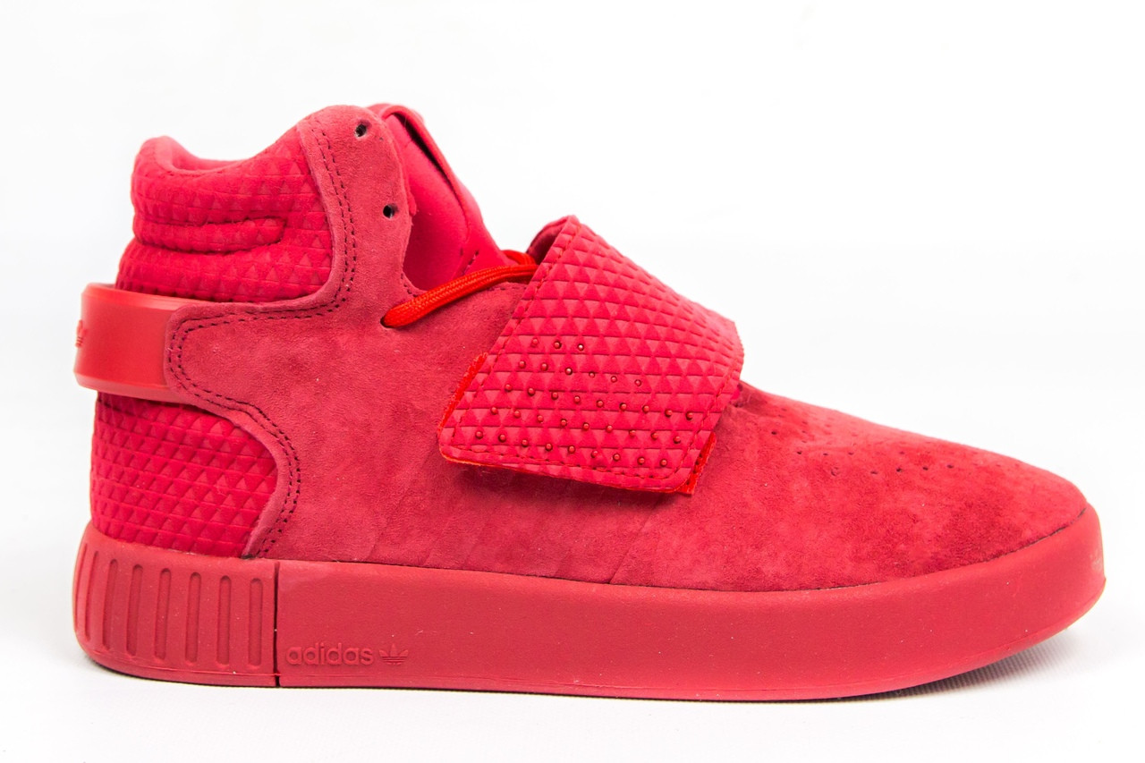 Кросівки Adidas Tubular Invader Red. Живе фото. Топ якість! (Репліка ААА+)
