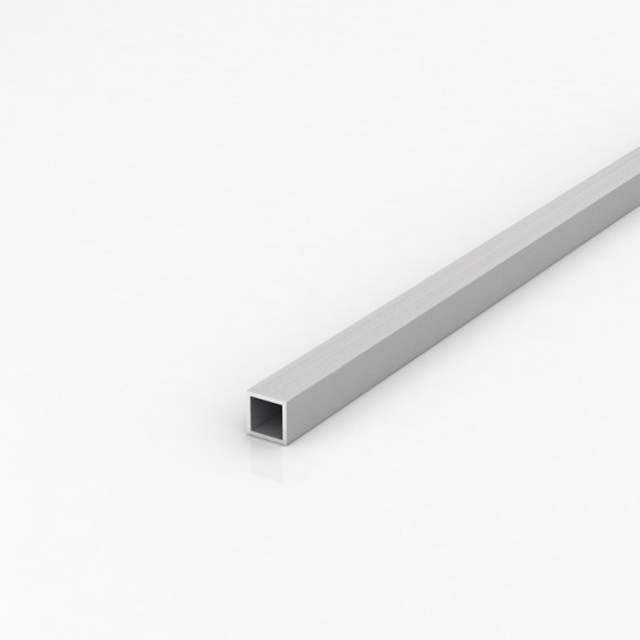 Алюмінієва труба квадратна 15х15мм товщиною стінки 1,5мм без покриття