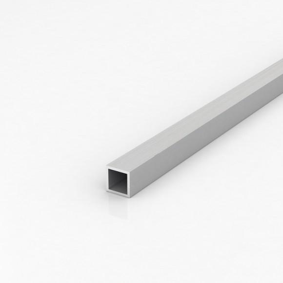 Алюмінієва труба квадратна 20х20мм товщиною стінки 2мм анодована