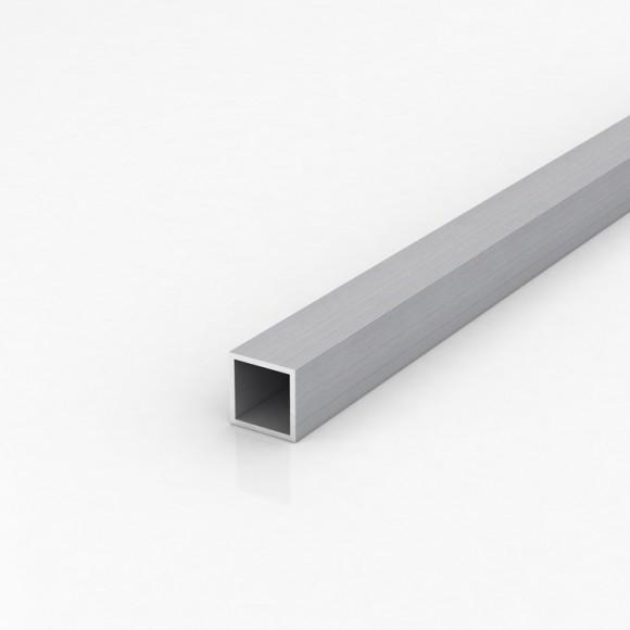 Алюмінієва труба квадратна 25х25мм товщиною стінки 2мм анодована