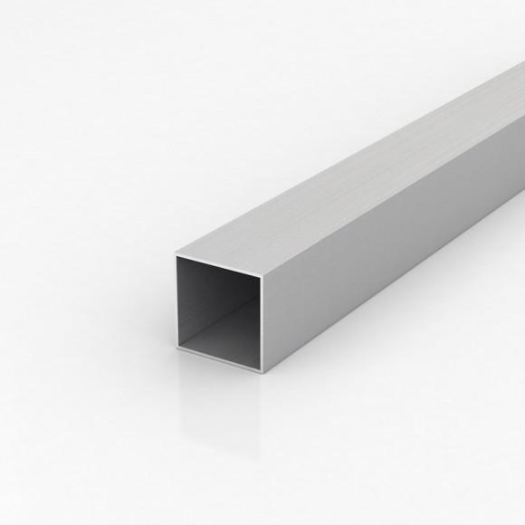 Алюмінієва труба квадратна 40х40мм товщиною стінки 2мм без покриття